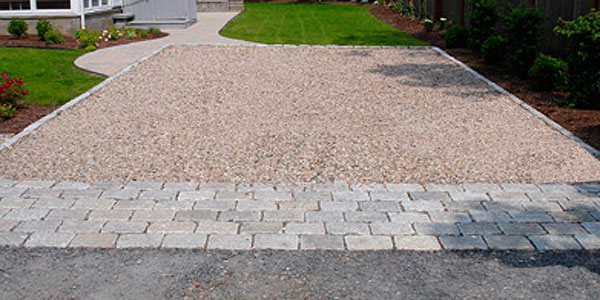 Cobble options and ideas mike stacy landscaping for Driveway apron ideas