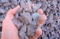 3/4″ Purple Stone – Mainly used for driveways but also as a decorative stone in landscape.
