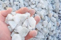 3/4″ White Stone – Used mainly in driveways but also as decorative stone in landscape. Can be used in place of shells.