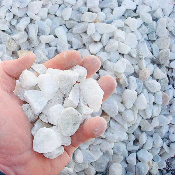 34 White Stone Used Mainly In Driveways But Also As