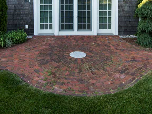 Round Brick Patio